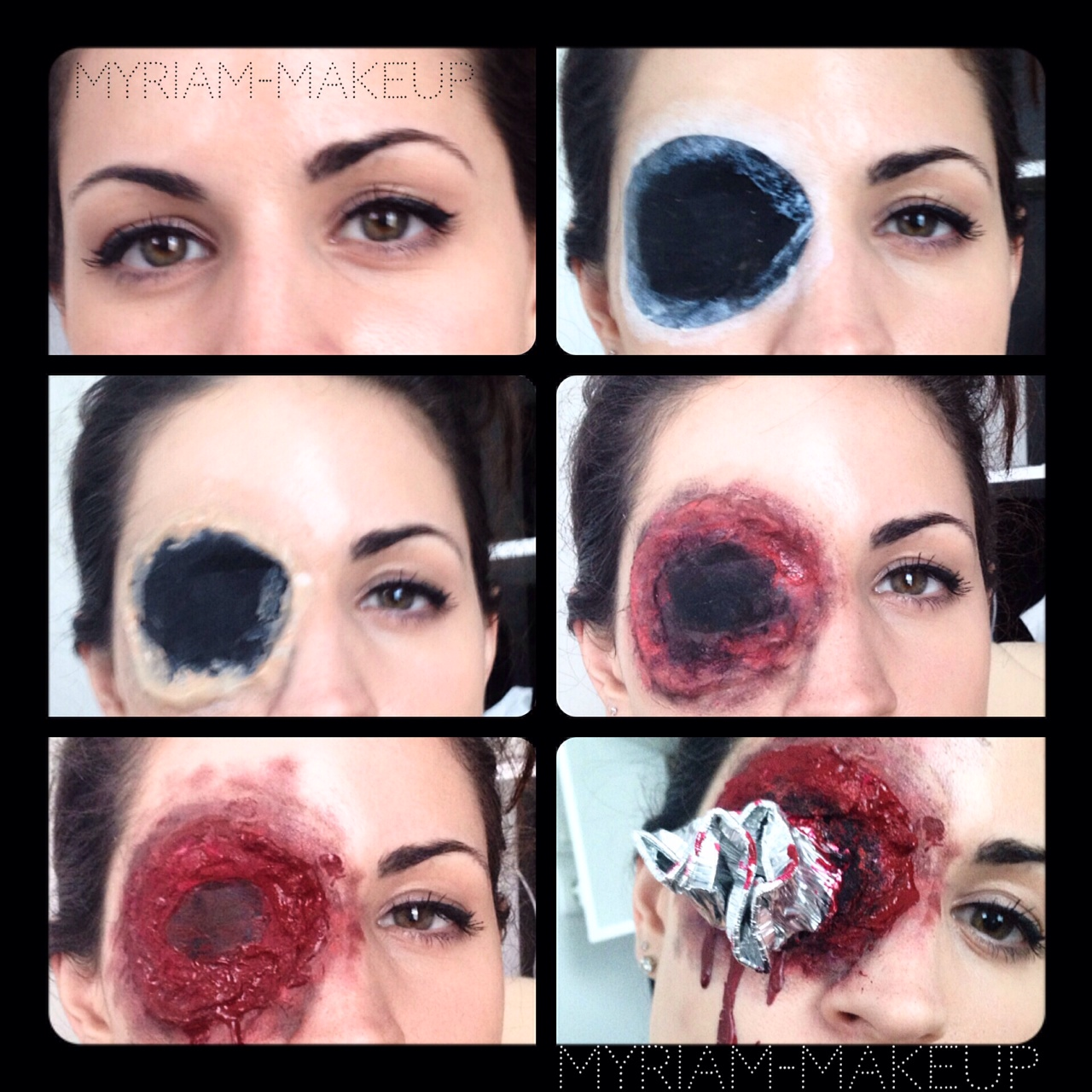 Maquillage halloween oeil transperc myriam poulet - Maquillage halloween latex ...
