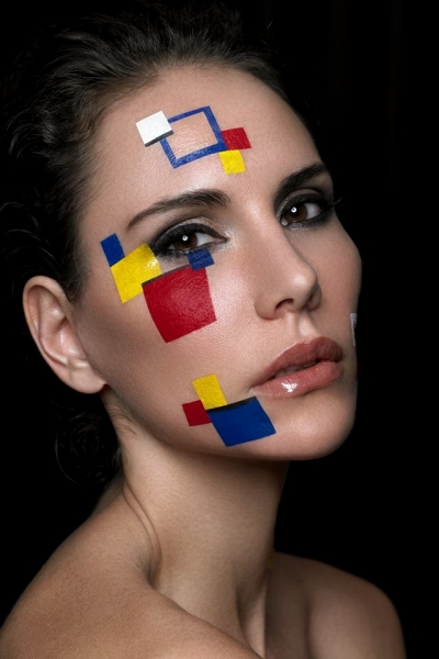 Maquillage géométrique