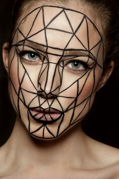 Maquillage artistique diamant