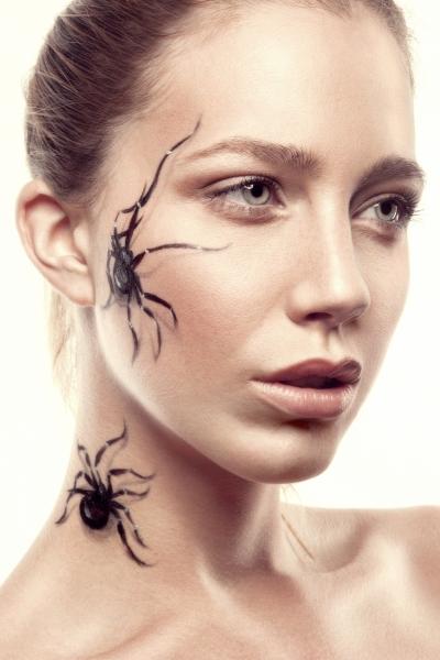 Artistique paint galerie photo maquillage myriam poulet - Maquillage toile d araignee visage ...