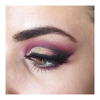 Oriental rose et doré
